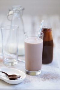 Homemade Chocolate Milk Syrup without refined sugars or artificial colors. The healthy, fun, and easy way to do chocolate milk.