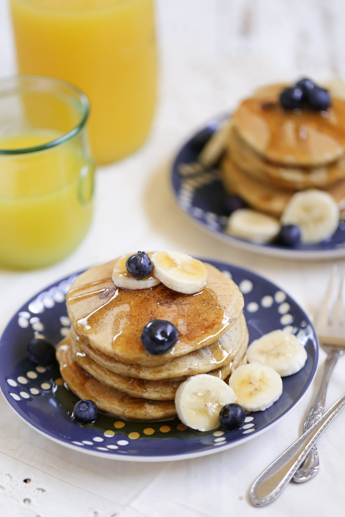 Blueberry Surprise Oatmeal Pancakes (Gluten-Free) - Live ...