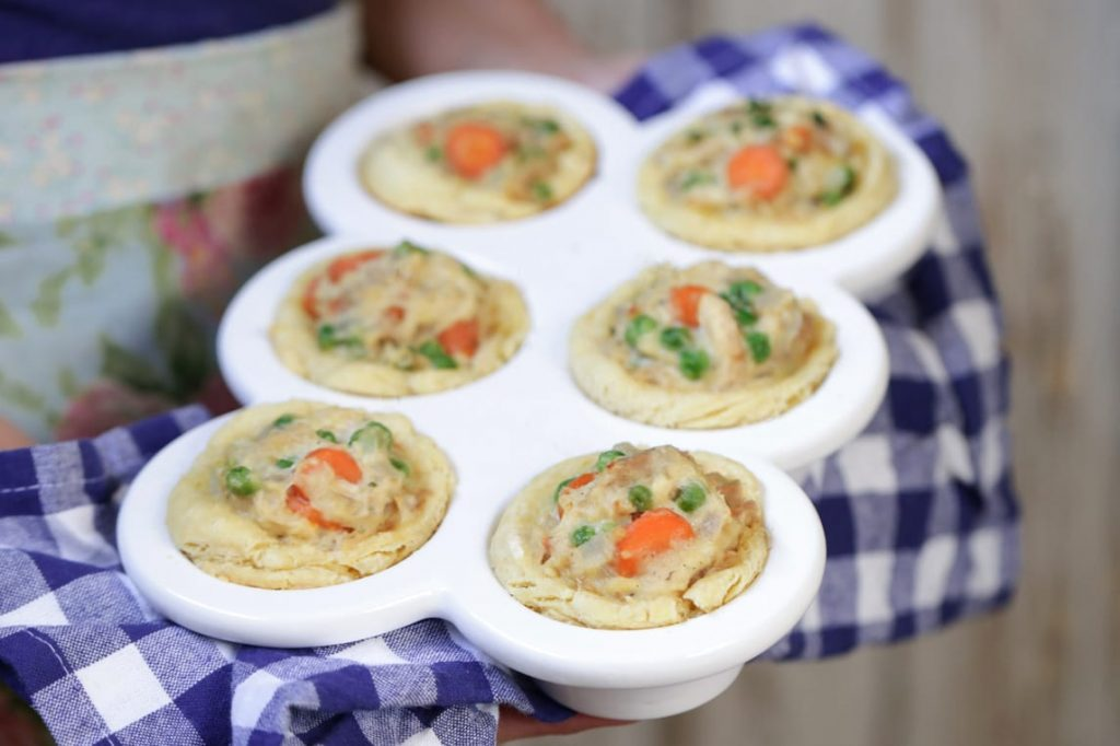 Mini Chicken Pot Pie Biscuits: Freezer-friendly. Kid-friendly. Easy to make. Real food ingredients.