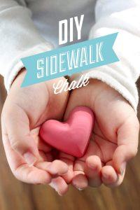 DIY Homemade Sidewalk Chalk: A super simple tutorial for making your own sidewalk chalk!