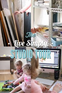 Live Simply Blog studio Tour