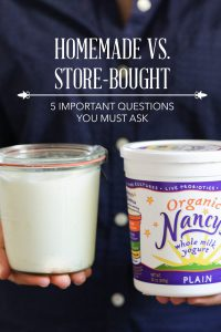 Homemade versus Store-Bought: 5 Important Questions You Must Ask