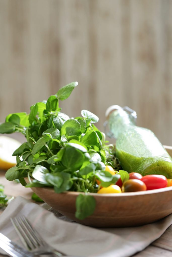 Three healthy homemade salad dressings you can make at home with fresh herbs! Three salad dressing recipes that require 5 minutes or less to make, from start to finish!