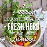Fresh Herb Salad Dressings