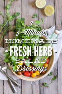 Fresh Herb Salad Dressings