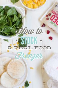 How to stock a real food freezer