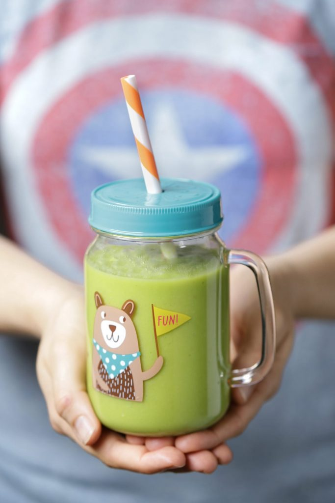 The BEST Kid-Friendly Green Smoothie (AKA: The Superhero Hulkbuster). This superhero drink is naturally-sweetened with fruit and packed with leafy greens. Your kids will love this tasty treat and probably even beg for more :).