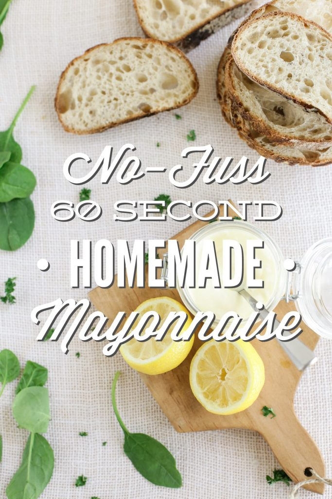 The BEST homemade mayo and it's only made with 4 ingredients! This homemade mayo is thick and creamy. And it's made in only 60 seconds or less! Plus, a full video tutorial showing the simple process in action.