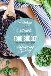 ways to stretch your food budget