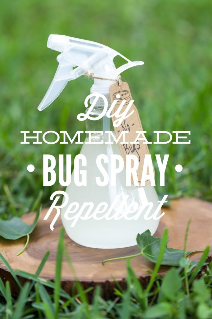 A super easy homemade bug spray that only requires 4 ingredients! This effective DIY bug spray repellent is safe for the whole family.