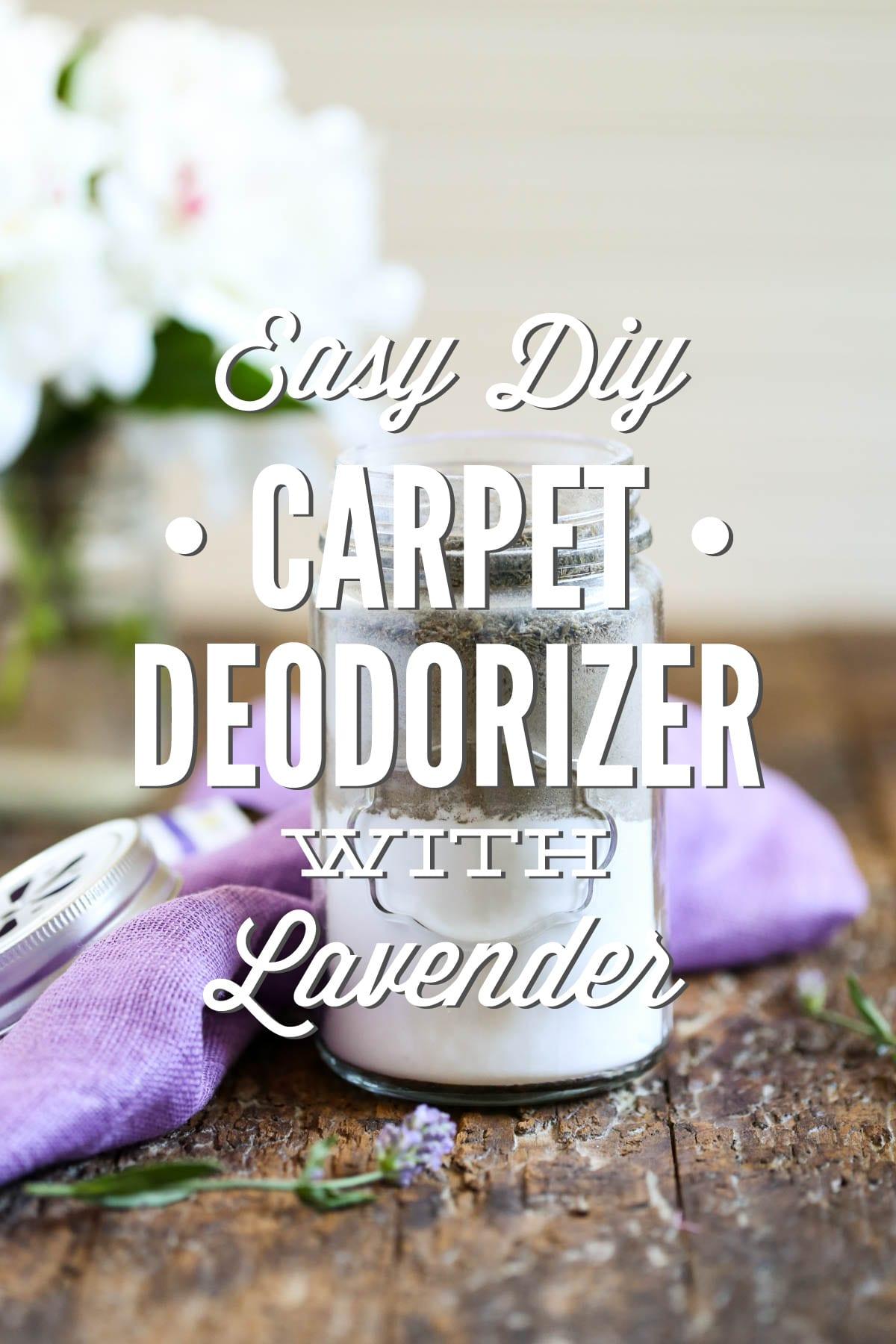 Easy diy carpet deodorizer with lavender live simply easy diy carpet deodorizer with lavender solutioingenieria Gallery