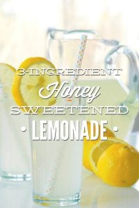 Homemade Honey Sweetened Lemonade