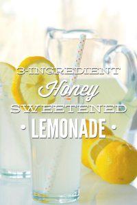 Homemade Honey Sweetened Lemonade