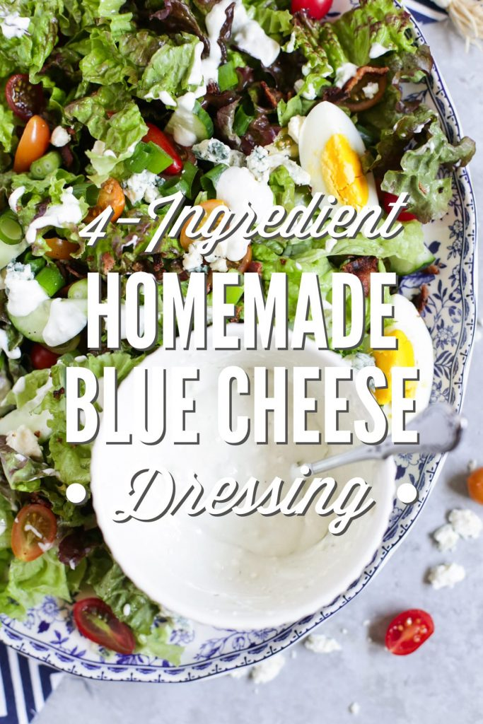 This stuff is soooo good!!! Homemade Blue Cheese Dressing: Only Four Ingredients!