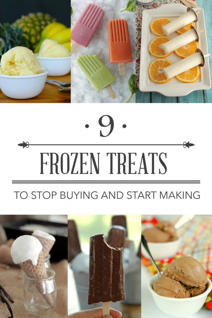 Frozen treats to stop buying and start making. Here are some of the top popular frozen treats, including ice cream and popsicles, from the store or ice cream shop that you can absolutely make at home