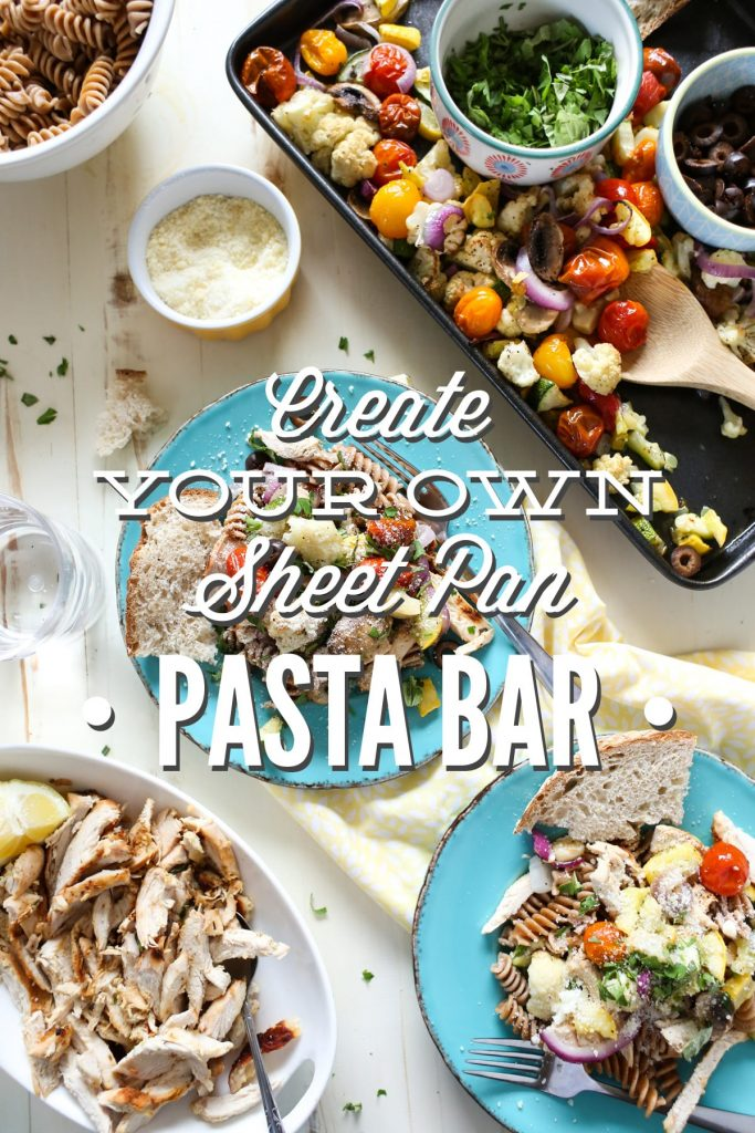 Create your own sheet pan pasta bar live simply for Q kitchen pasta buffet