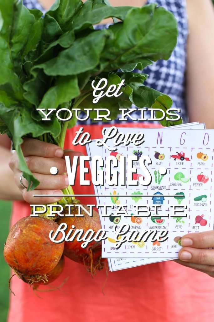 Get Your Kids To Love Veggies The Live Simply Fruit And Veggie Bingo Game Live Simply