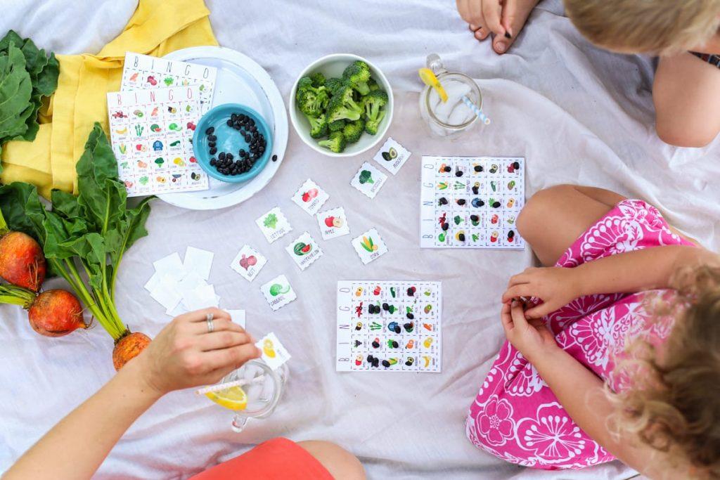 Fruit and Veggie Bingo Game