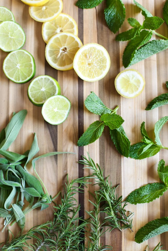 DIY homemade herb-infused cleaner! This all-purpose spray cleaner naturally cleans. No nasty ingredients! Super inexpensive. width=