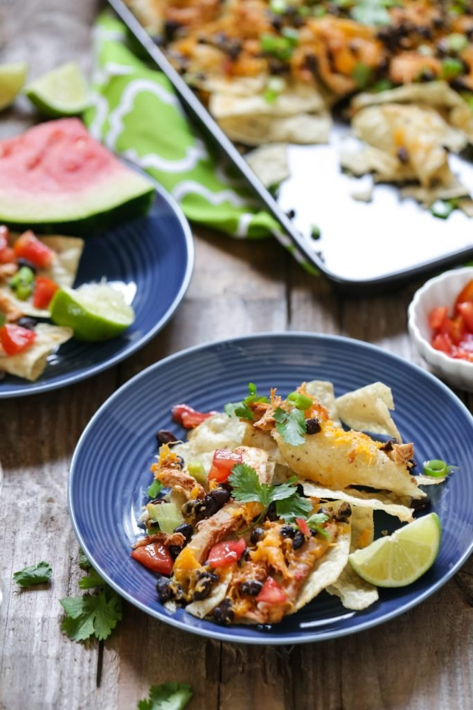 Use up your leftovers and create easy real food nachos! No processed food ingredients. Less than 30 minutes from start to finish.