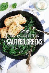 Easy sautéed greens: A healthy 10 minute dish