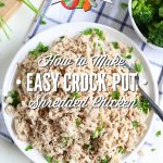 How to make shredded chicken in the crock-pot using a whole chicken