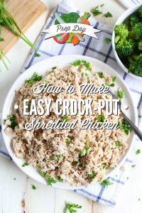 Jak zrobić rozdrobnionego kurczaka w crock-pot używając całego kurczaka