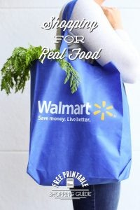 Shopping for real food at Walmart