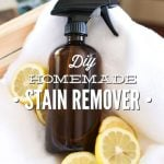 DIY Homemade Stain Remover Spray