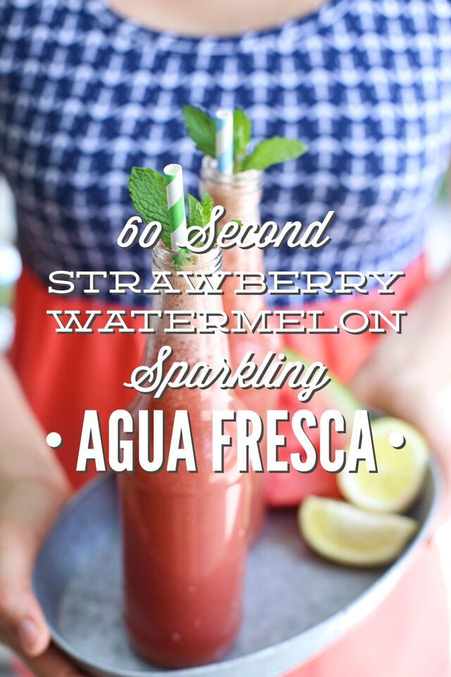 "Watermelon Strawberry Sparkling Agua Fresca. Agua fresca is a fancy Spanish name (translated: ""cool waters"") for a very simple and refreshing summer drink that combines fresh fruit, sweetener, and water."