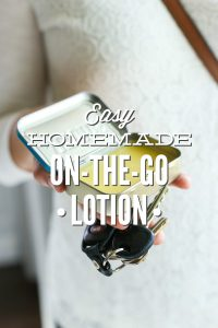 Homemade on-the-go lotion