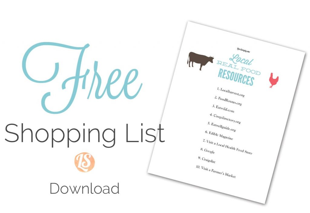 Free Shopping List Local Resources
