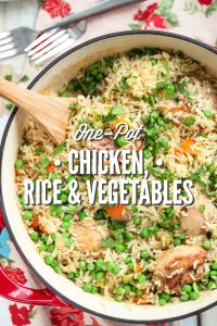 One-Pot Chicken, Rice, and Vegetables
