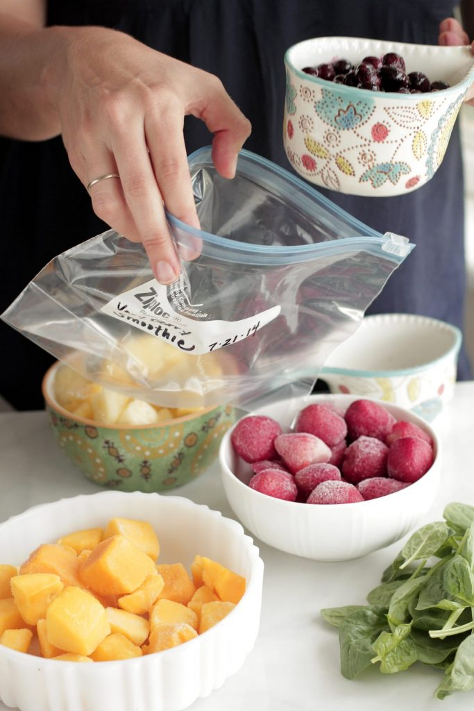 How to prep smoothies in advance