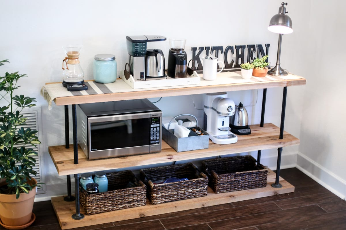 Diy black pipe coffee station 1285 live simply for How to build a coffee bar