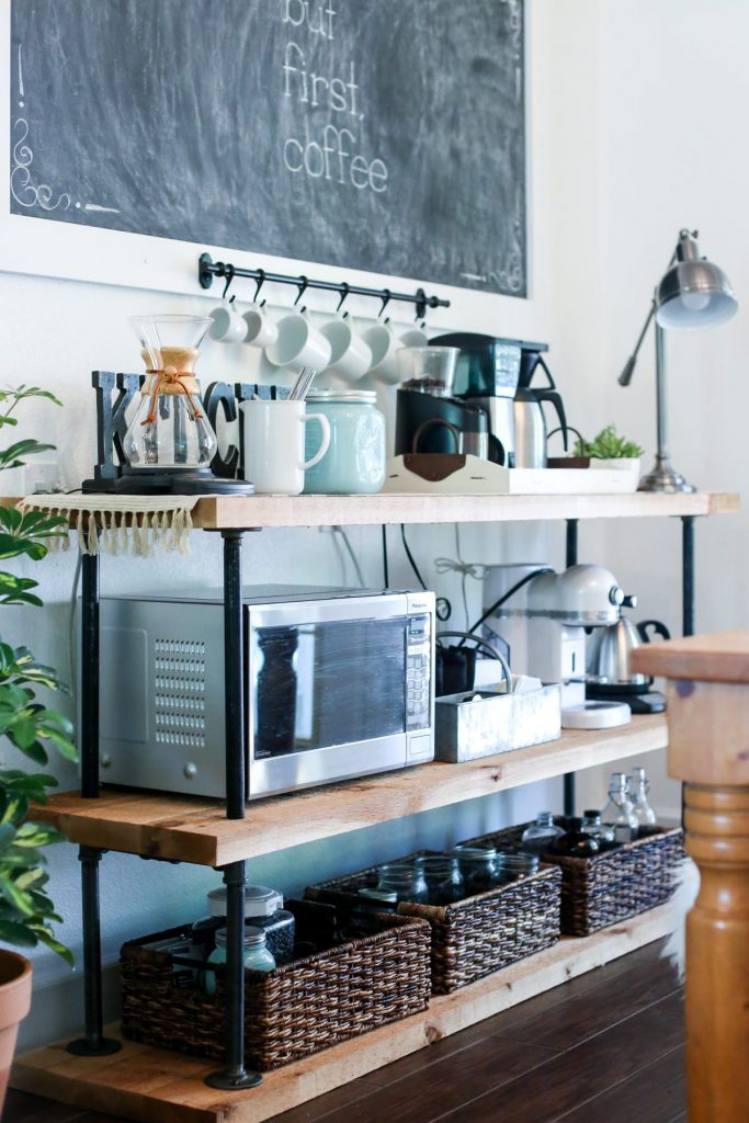 DIY Black Pipe Coffee Bar Station. Donu0027t Spend Several Hundred On A Table