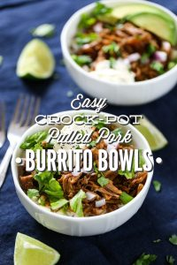 Easy Crock-Pot Burrito Bowls