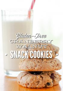 Gluten-Free Cranberry Walnut Snack Cookies