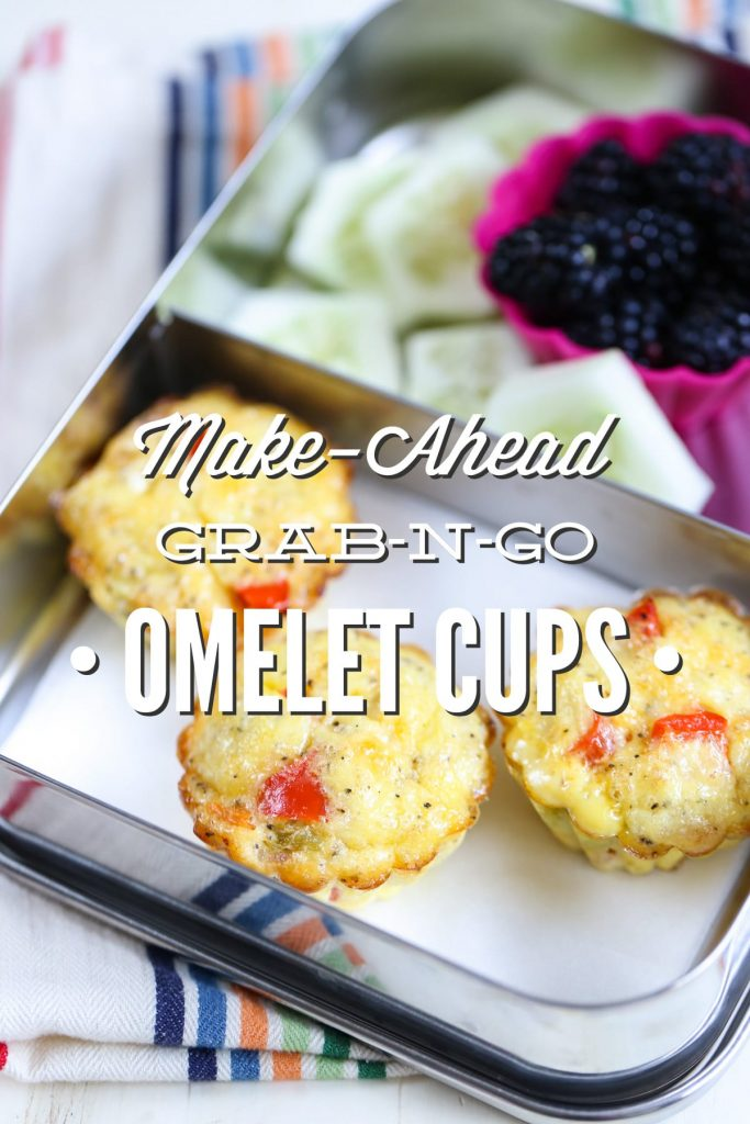 Omelet cups are the ultimate make-ahead busy morning meal or lunch. They will last well for 2 months in the freezer and in the fridge for 3-4 days. Just reheat the egg cups and serve. Easy peasy, healthy, and scrumptious!