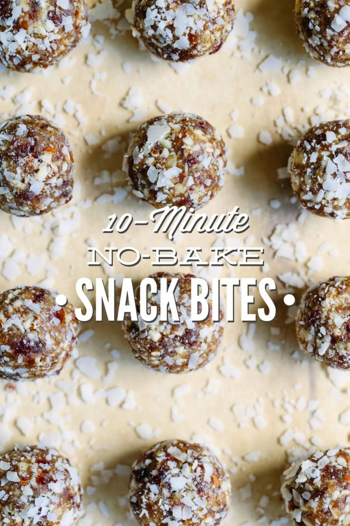 10-Minute No-Bake Snack Bites: Easy, healthy homemade snacks! Packed full of great nutrients for big and little bodies.
