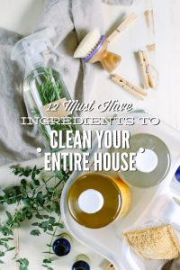 Must Have Ingredients to Clean Your Entire House, Naturally!