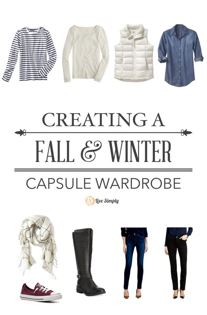 Simplify The Closet Building My Fall Winter Capsule Wardrobe Live Simply