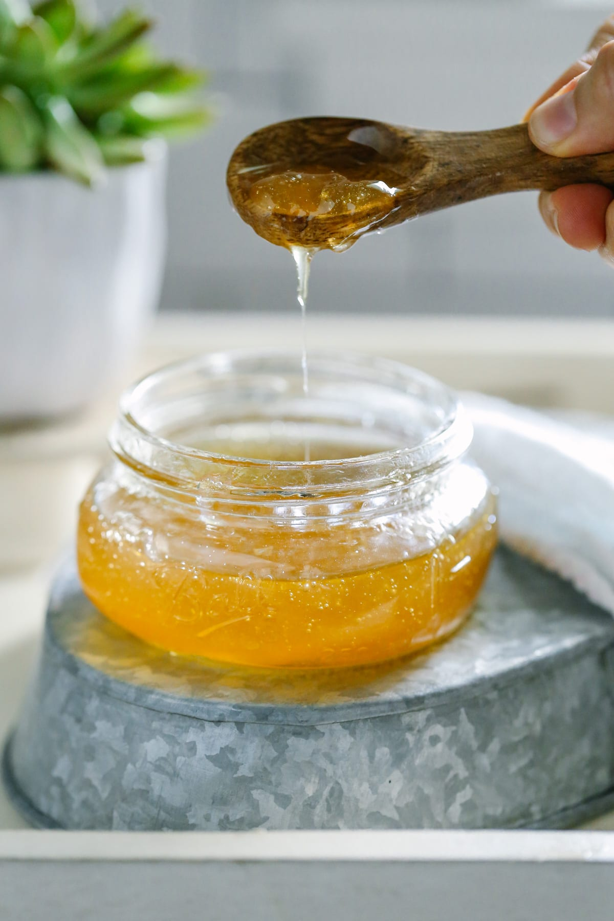 Homemade Honey and Aloe Facial Cleanser. This is super easy to make. So easy