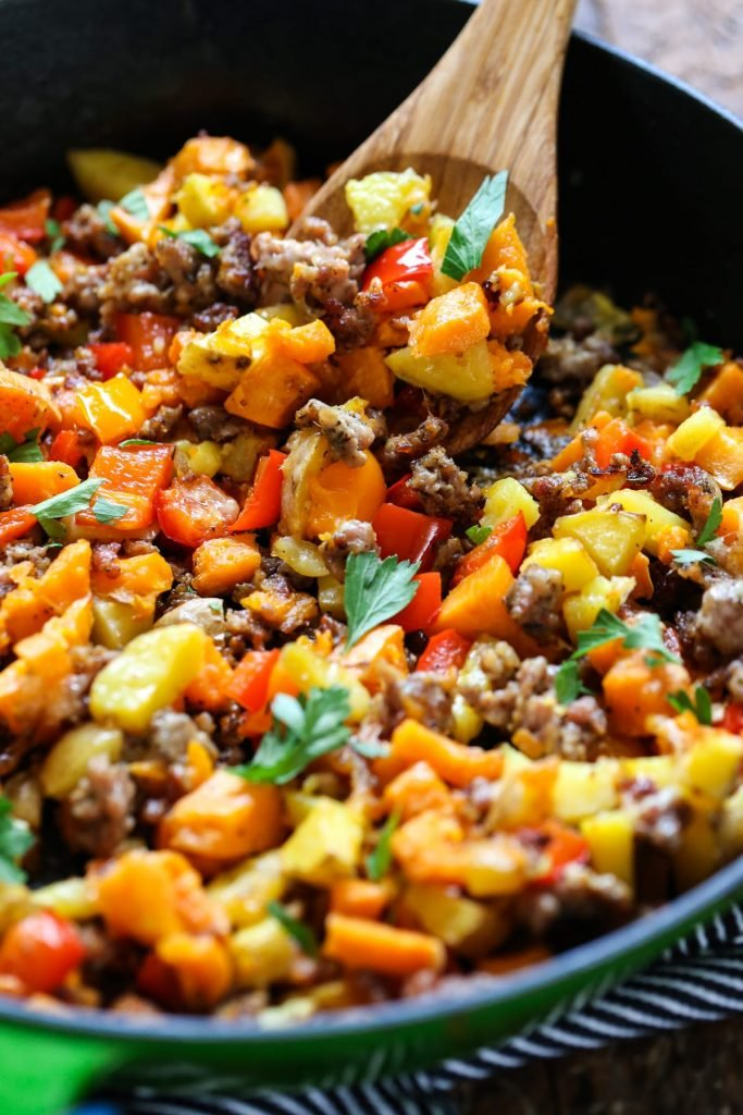 Sausage and Sweet Potato Hash. Enjoy this delicious hash any time of the year, not just in the fall. Your family will love you for this yummy breakfast recipe.