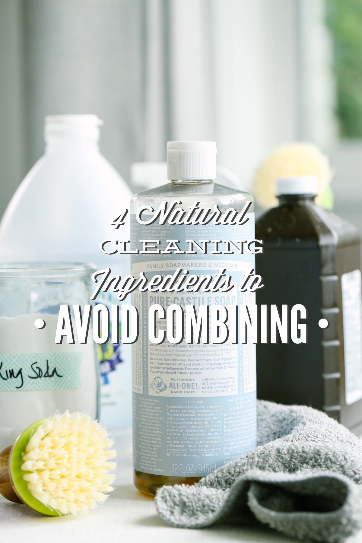4 Natural Cleaning Ingredients to Avoid Combining - Live Simply