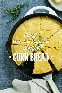 Easy Homemade Skillet Cornbread