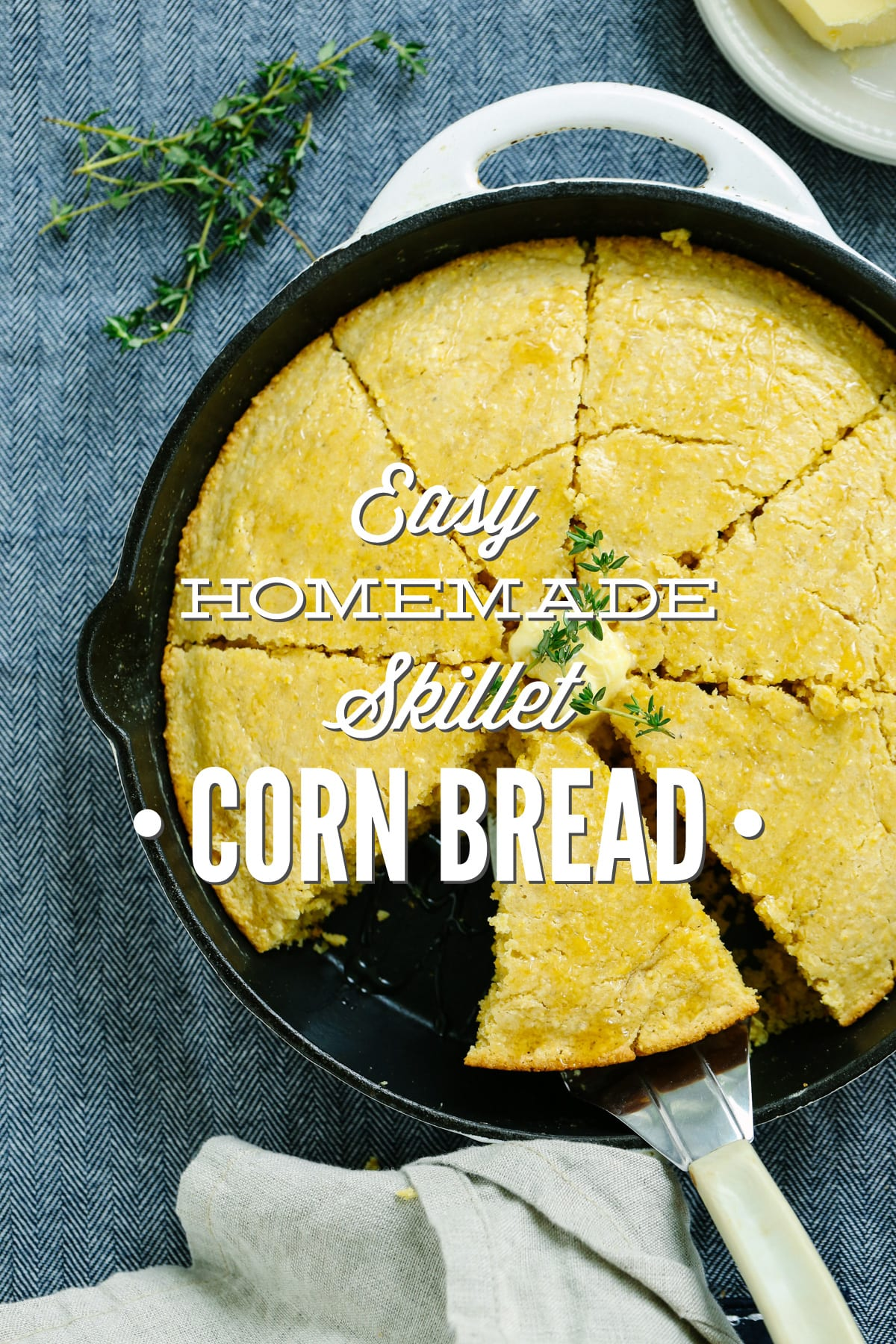 Easy homemade skillet cornbread live simply easy homemade skillet cornbread super easy recipe with only real food ingredients forumfinder Choice Image
