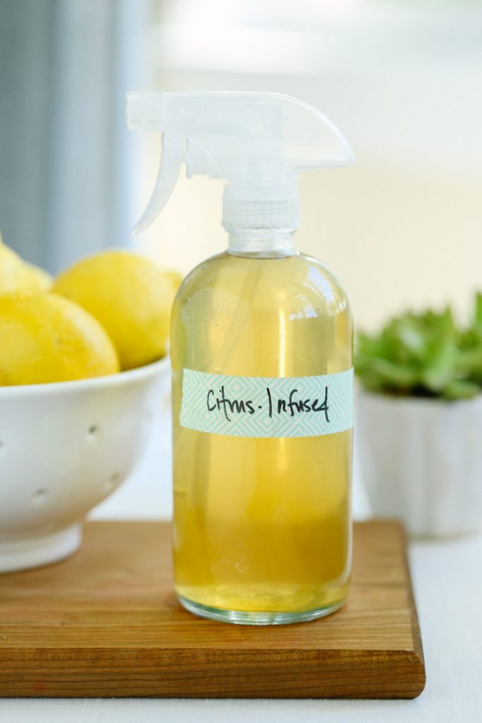 This super versatile vinegar-infused all purpose cleaner will help you naturally many different area of your house with ease.