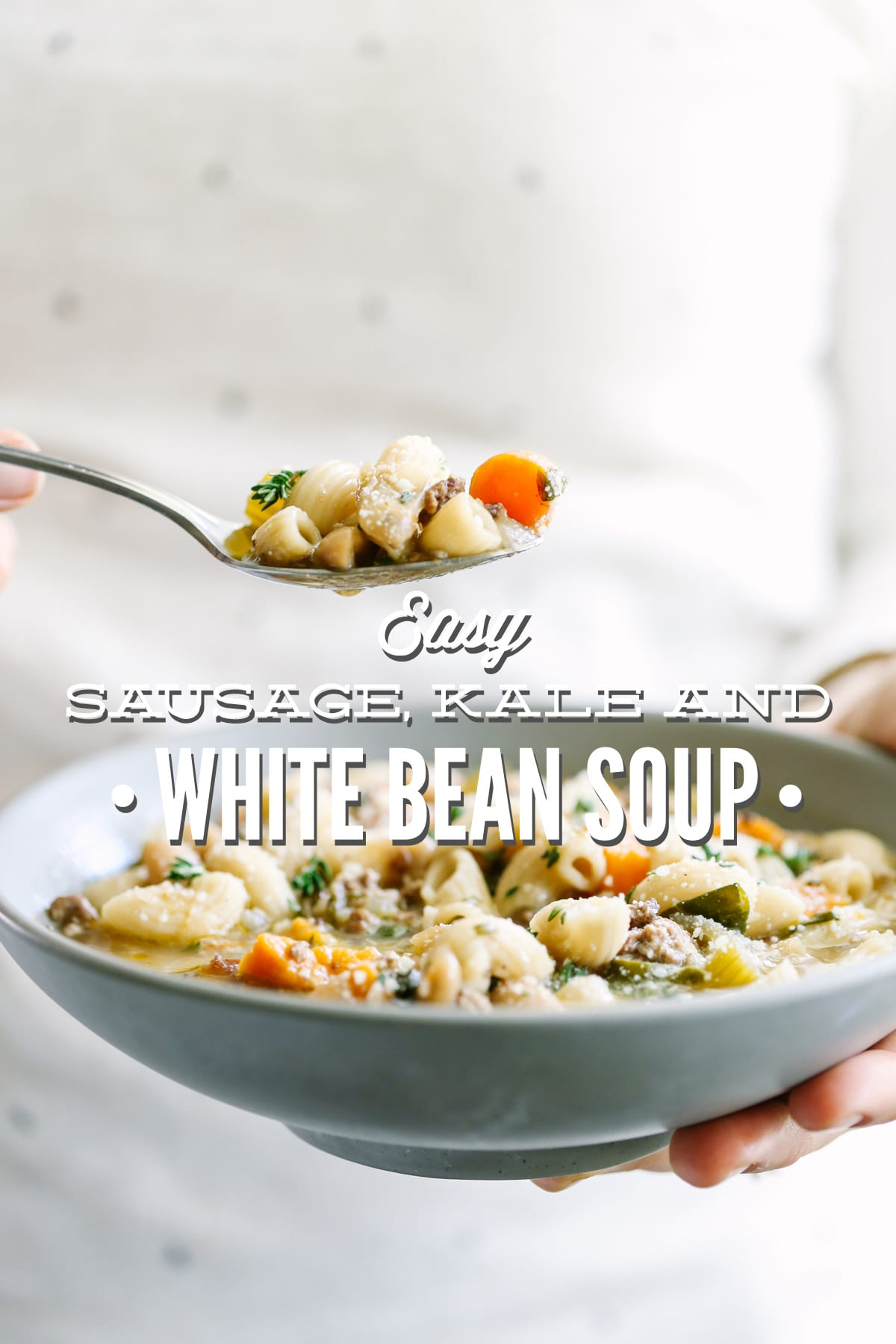 Easy Sausage, Kale, and White Bean Soup