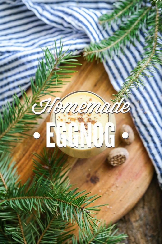 Easy real food eggnog! No cans or artificial ingredients. Just real, unprocessed, and simple ingredients! SOOO GOOD!